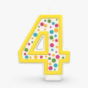 Number Candle 4 3d model