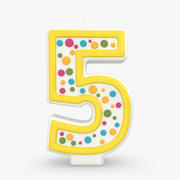 Number Candle 5 3d model