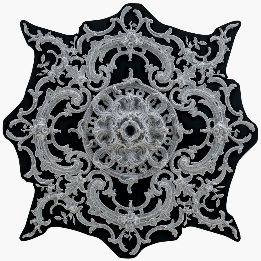 Rosette 129 royalty-free 3d model - Preview no. 6