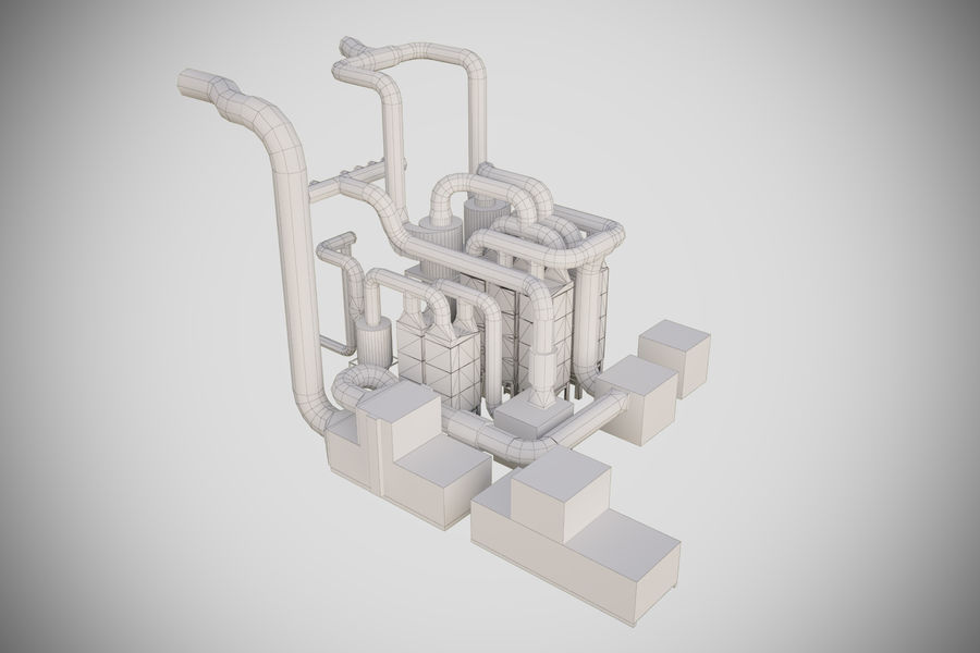 industrial components royalty-free 3d model - Preview no. 9