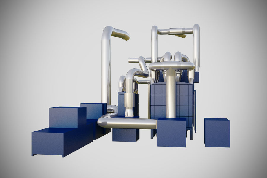 industrial components royalty-free 3d model - Preview no. 4