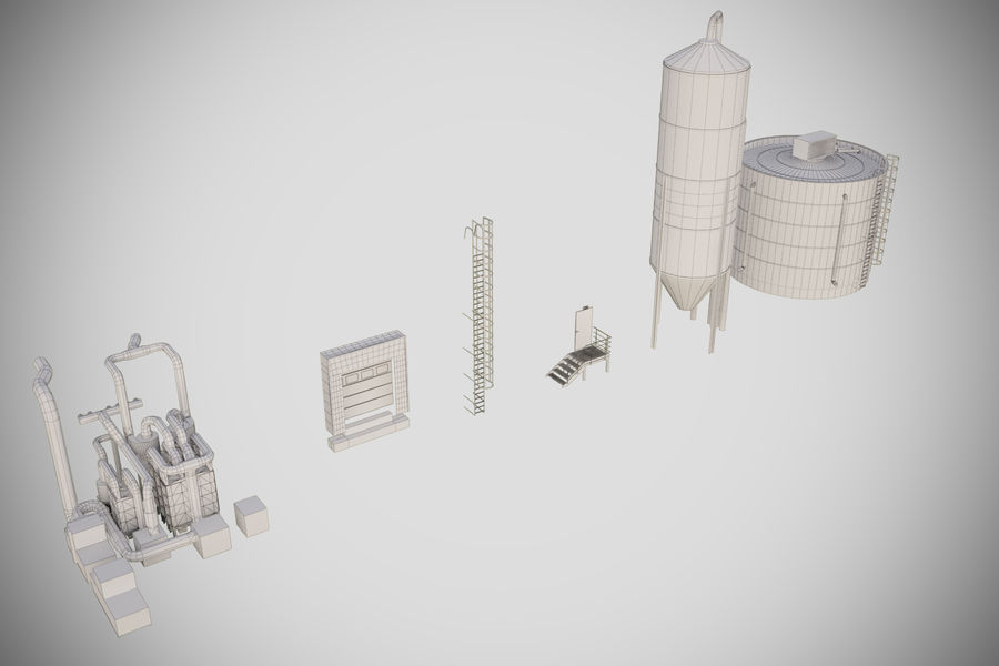 industrial components royalty-free 3d model - Preview no. 6