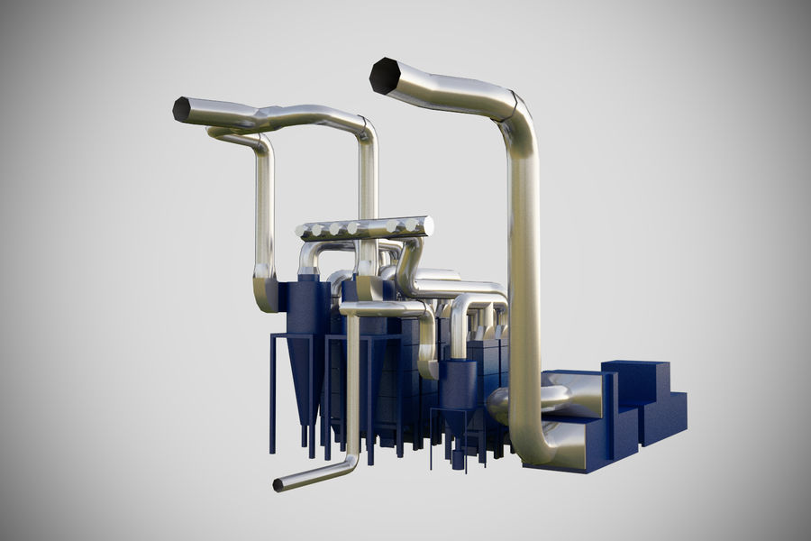 industrial components royalty-free 3d model - Preview no. 8