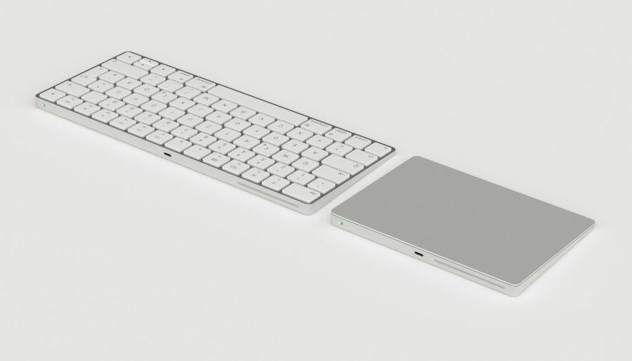 Apple Magic Keyboard Trackpad 2 royalty-free 3d model - Preview no. 7