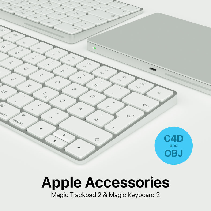 Apple Magic Keyboard Trackpad 2 royalty-free 3d model - Preview no. 1