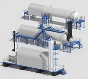 Refinación de petróleo modelo 3d