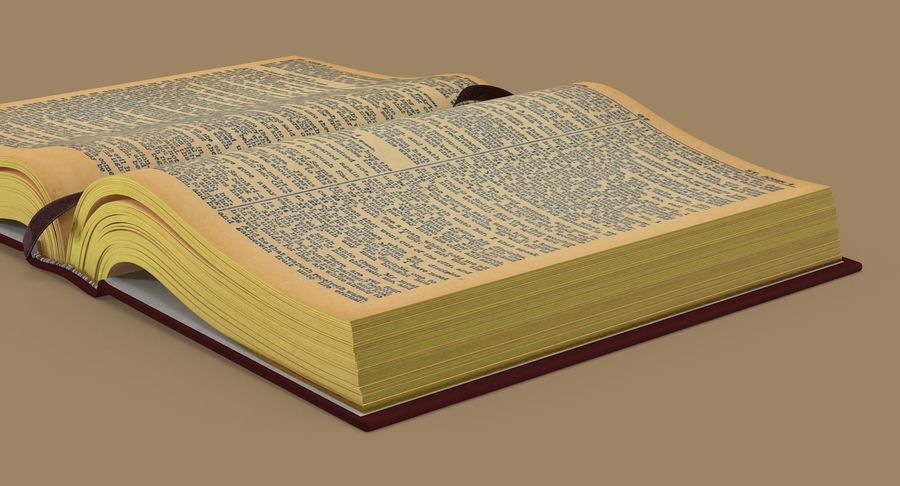 Otwórz Biblię royalty-free 3d model - Preview no. 10