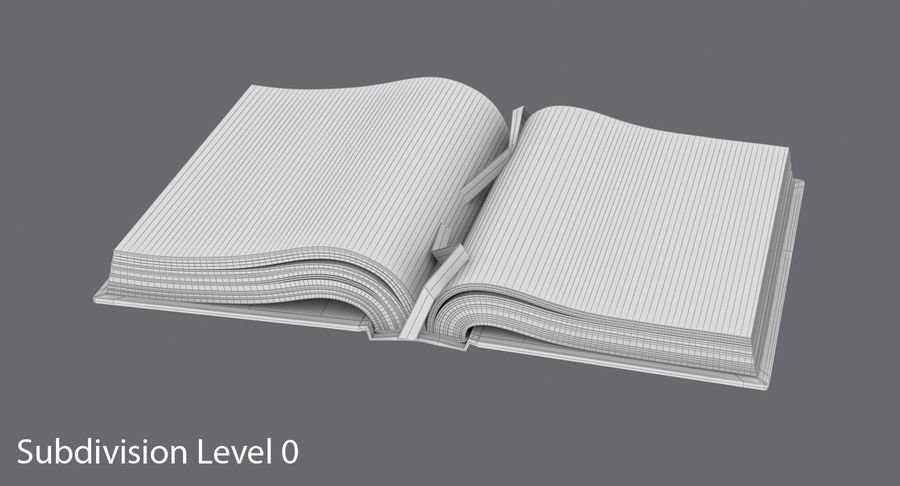 Otwórz Biblię royalty-free 3d model - Preview no. 16
