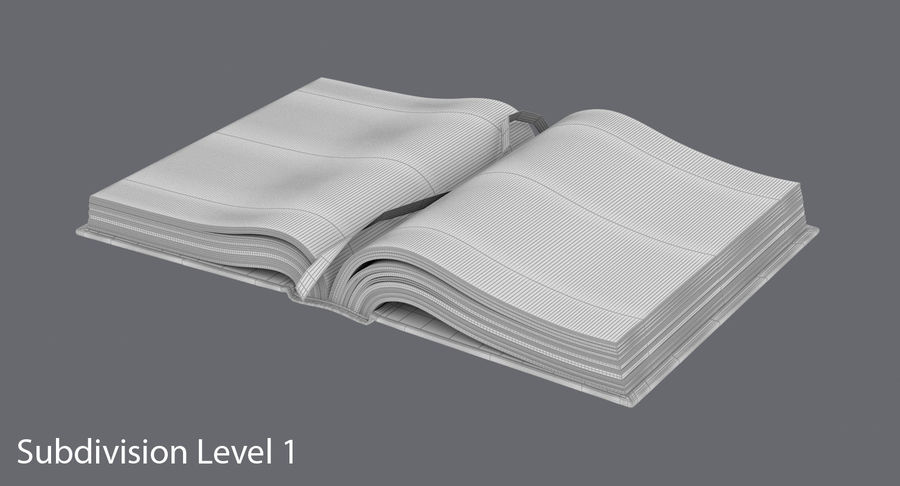 Otwórz Biblię royalty-free 3d model - Preview no. 13
