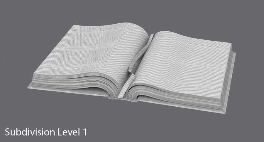 Otwórz Biblię royalty-free 3d model - Preview no. 17