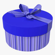Geschenkbox 5 Blau 3d model