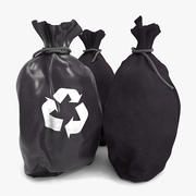 3 Waste Recycling Bag 3d model