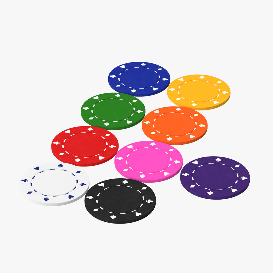 Poker Chip royalty-free 3d model - Preview no. 1