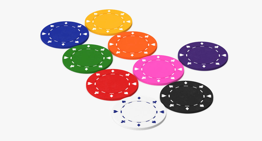 Poker Chip royalty-free 3d model - Preview no. 5