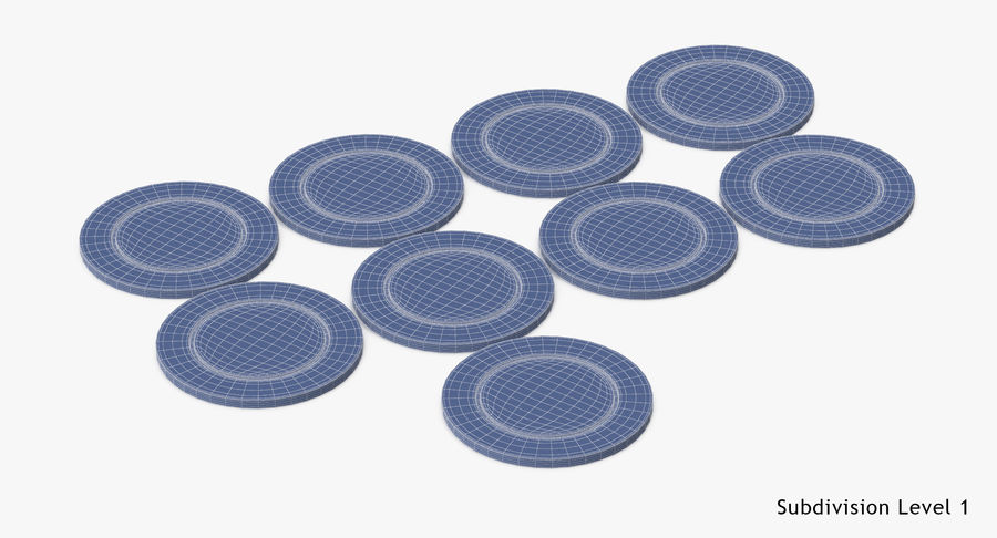 Poker Chip royalty-free 3d model - Preview no. 14