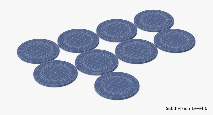 Poker Chip royalty-free 3d model - Preview no. 13
