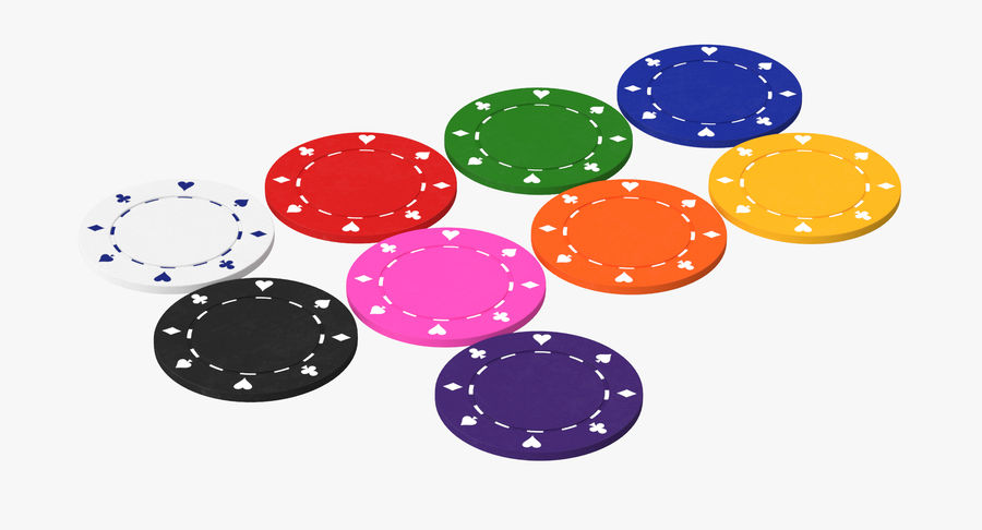 Poker Chip royalty-free 3d model - Preview no. 2