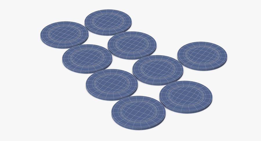 Poker Chip royalty-free 3d model - Preview no. 10