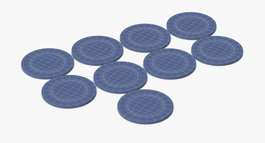 Poker Chip royalty-free 3d model - Preview no. 8