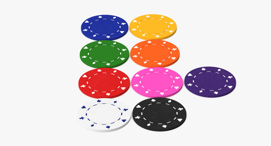 Poker Chip royalty-free 3d model - Preview no. 4