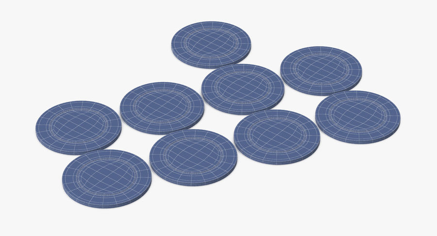 Poker Chip royalty-free 3d model - Preview no. 12