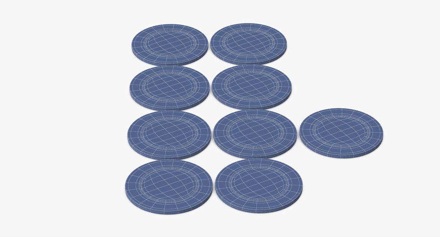 Poker Chip royalty-free 3d model - Preview no. 9