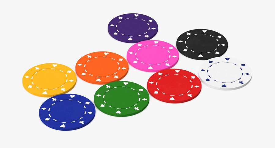 Poker Chip royalty-free 3d model - Preview no. 7