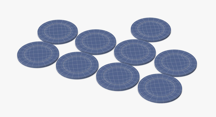 Poker Chip royalty-free 3d model - Preview no. 11