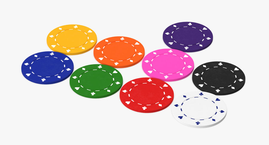 Poker Chip royalty-free 3d model - Preview no. 6