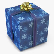 Geschenkbox 2 Blau 3d model