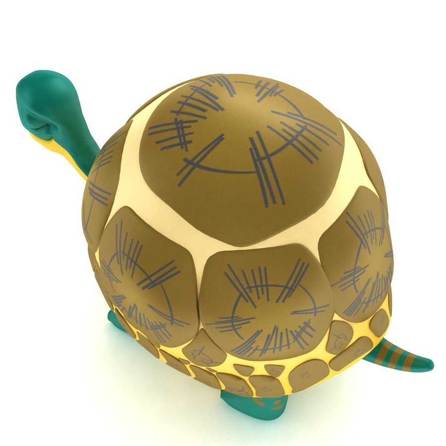 Old Turtle Tortoise model royalty-free 3d model - Preview no. 2