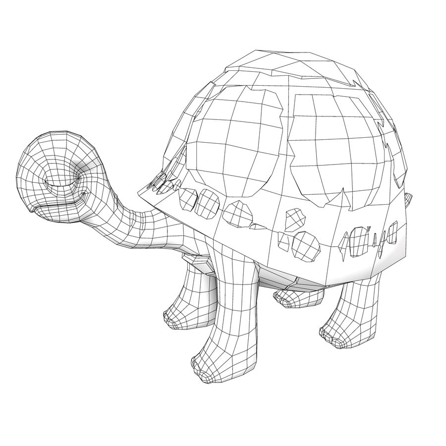 Old Turtle Tortoise model royalty-free 3d model - Preview no. 4