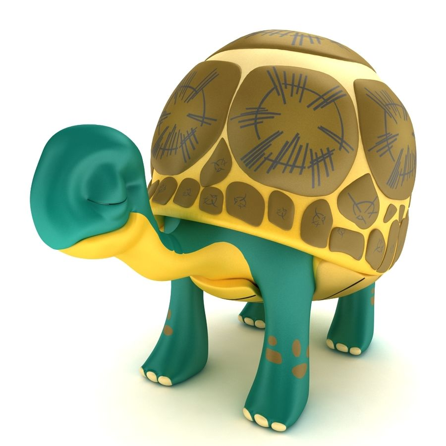 Old Turtle Tortoise model royalty-free 3d model - Preview no. 1