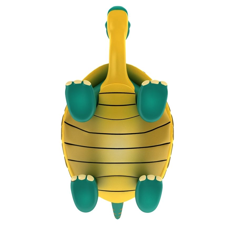 Old Turtle Tortoise model royalty-free 3d model - Preview no. 6