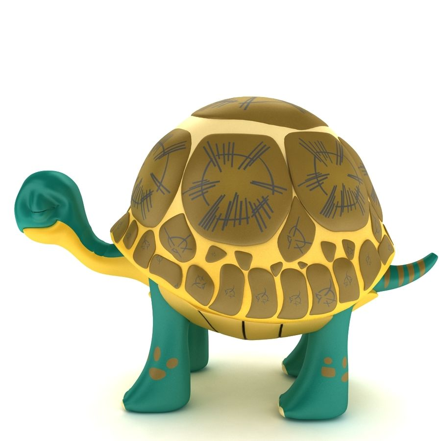 Old Turtle Tortoise model royalty-free 3d model - Preview no. 3
