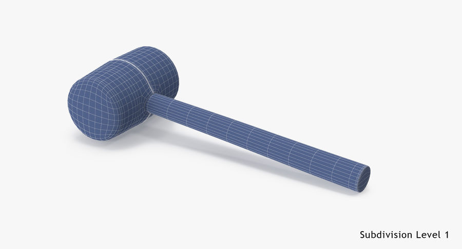 Rubber Mallet royalty-free 3d model - Preview no. 18