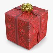 Geschenkbox 2 Rot 3d model