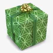 Geschenkbox 2 Grün 3d model