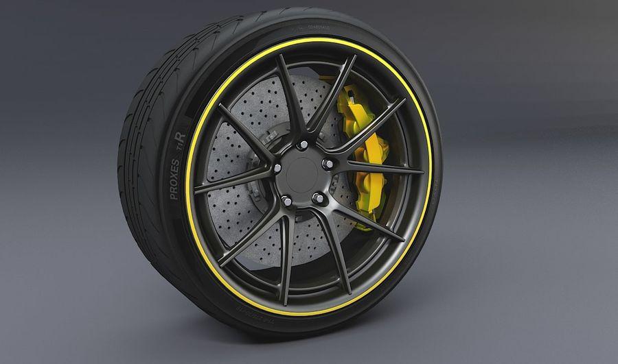 гоночный дисковый тормоз и руль royalty-free 3d model - Preview no. 1