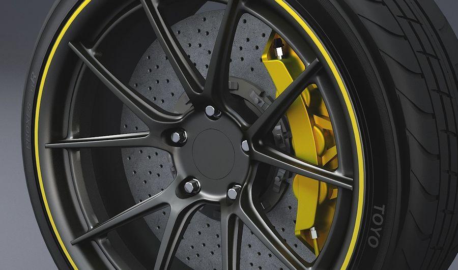гоночный дисковый тормоз и руль royalty-free 3d model - Preview no. 2