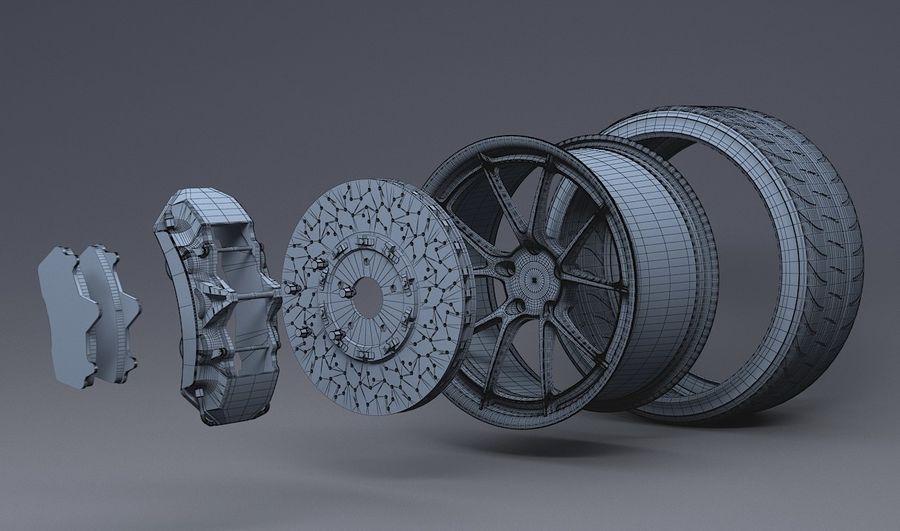 гоночный дисковый тормоз и руль royalty-free 3d model - Preview no. 4