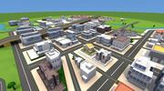 漫画の街 3d model