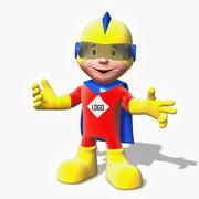 Cartoon Super Hero Boy 3d model
