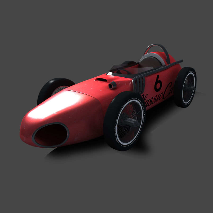 Samochód wyścigowy royalty-free 3d model - Preview no. 4