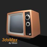 Telewizja retro 3d model