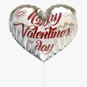 Balon w kształcie serca kochanka (podwójne twarze) 3d model