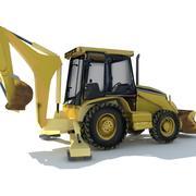 Back hoe tractor 3d model