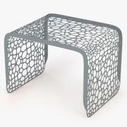 Koralowy stół końcowy 3d model