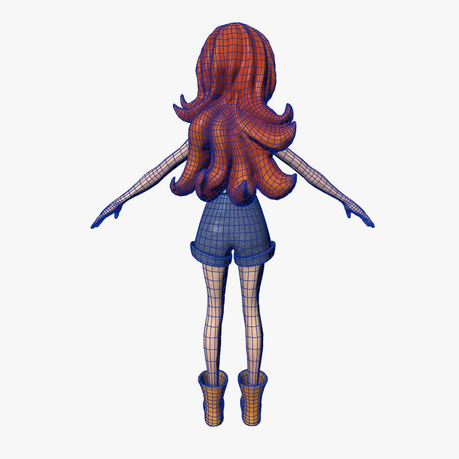 Cartoon Girl royalty-free 3d model - Preview no. 8