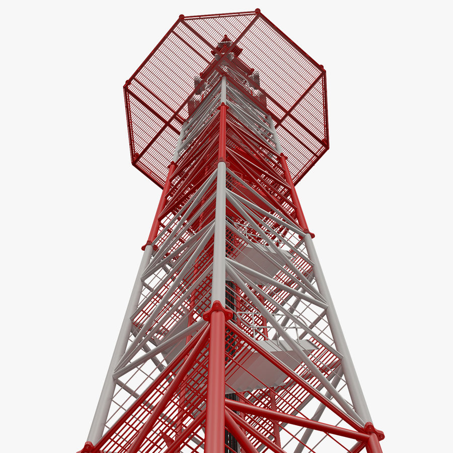Torre de comunicação royalty-free 3d model - Preview no. 12